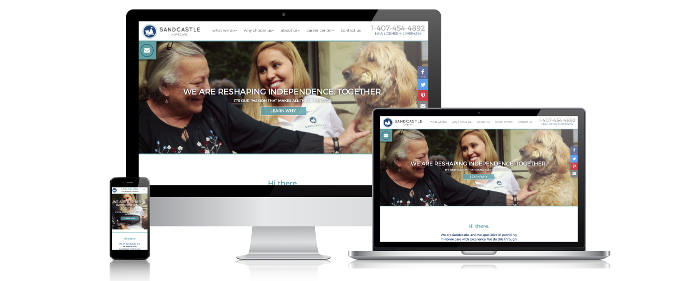Sandcastle Home Care - Website Design - agencyTHE | Performance ...